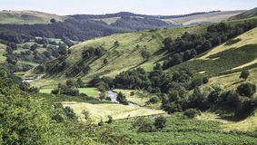 View from Snake Pass on way to Lacybower Reservoir Royalty Free Stock Image