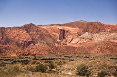 View of Snow Canyon Stock Images