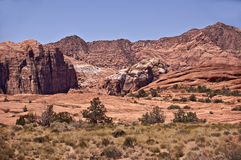 View of Snow Canyon Royalty Free Stock Images