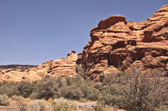 View of Snow Canyon Stock Photos