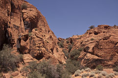 View of Snow Canyon Royalty Free Stock Photos