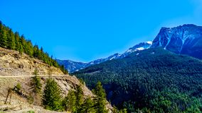 Coast Mountains along Highway 99,in BC, Canada stock photography