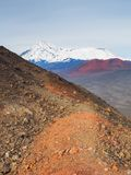 Mount Ostry Tolbachik, the highest point of volcanic complex on the Kamchatka, Russia. royalty free stock image