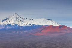 Mount Ostry Tolbachik, the highest point of volcanic complex on the Kamchatka, Russia. stock photography