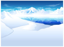 The view of snow capped Mountain Royalty Free Stock Photo