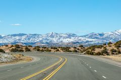 Snow Capped Mountains in New Mexico royalty free stock images