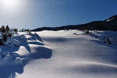 View Of Snow Covered Landscape. royalty free stock photo