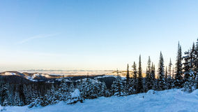 View from a Snow Covered Mountain Royalty Free Stock Photography