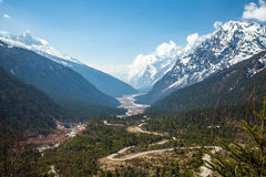 View of snow moutain in Sikkim, India Royalty Free Stock Images