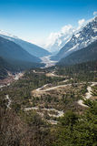 View of snow moutain in Sikkim, India Stock Images