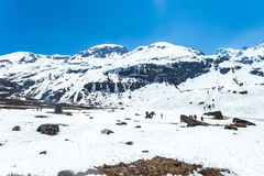 View of snow moutain in Sikkim, India Royalty Free Stock Photography
