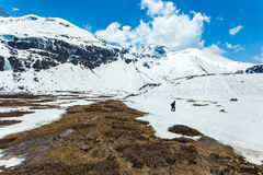 View of snow moutain in Sikkim, India Stock Photos