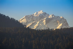 View of snow moutain in Sikkim, India Stock Photography