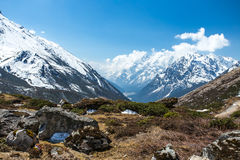 View of snow moutain in Sikkim, India Royalty Free Stock Photos