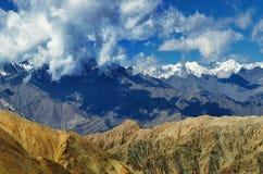 View of snow peaks, Leh ladakh  Jammu and Kashmir, India Stock Photos