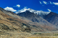View of snow peaks, Leh ladakh  Jammu and Kashmir, India Royalty Free Stock Photos