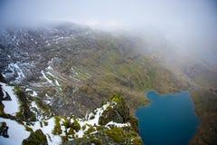 View from Snowdon Mountain, Snowdonia National Pa Stock Image