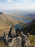 View from Snowdon Mountain Wales. View of valley from Snowdon Mountain Wales royalty free stock images