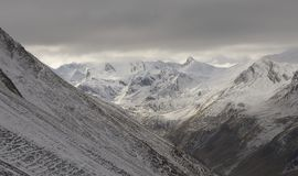 View of the snowy French Alps Royalty Free Stock Photos
