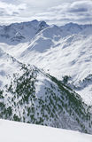 View of snowy mountain range Stock Photography