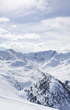 View of snowy mountain range Royalty Free Stock Photography