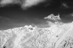 View on snowy off-piste slope royalty free stock photos