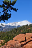 View of snowy Pikes Peak Royalty Free Stock Photos