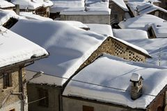 View of snowy roofs Royalty Free Stock Images
