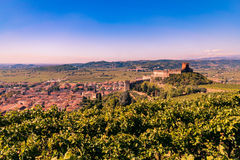 View of Soave Italy and its famous medieval castle Royalty Free Stock Photography