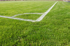View of soccer field from corner Royalty Free Stock Photos