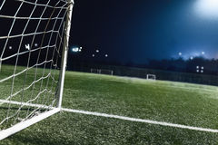 View of soccer field and goal Royalty Free Stock Image