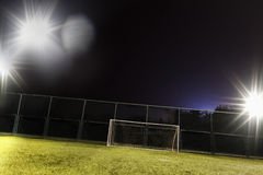 View of soccer field and goal Stock Photos