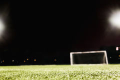 View of soccer field and goal Stock Image