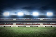 View of soccer stadium fields. View of soccer stadium field Royalty Free Stock Images