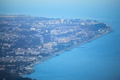 View on Sochi from air Royalty Free Stock Photos