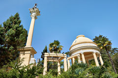 View of Sochi Arboretum. Moorish gazebo Royalty Free Stock Images
