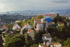 View of Sochi and mountains from the top stock photography