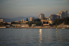 View of Sochi from the sea. The beautiful city of Sochi Stock Images