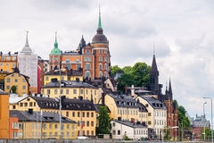 View of Sodermalm in Stockholm, Sweden Stock Photos