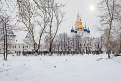 View of the Sofia-Uspensky Cathedral in Tobolsk Stock Image