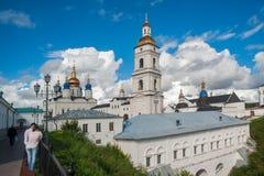 View of the Sofia vzvoz. Tobolsk Kremlin. Tobolsk, Russia - July 15, 2016: Kremlin. View on Sofia vzvoz, Rentereya, belltower and St Sophia-Assumption Cathedral Stock Photo