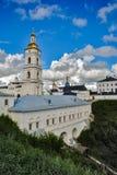 View of the Sofia vzvoz. Tobolsk Kremlin. Tobolsk, Russia - July 15, 2016: Kremlin. View on Sofia vzvoz, Rentereya, belltower and St Sophia-Assumption Cathedral Royalty Free Stock Photo