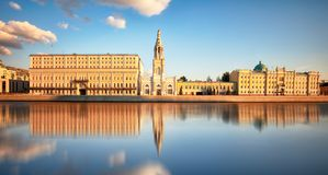 View of Sofiyskaya embankment with Moskva river in Moscow, Russia stock image