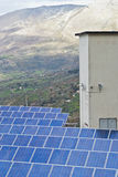 View of solar panels in the Madonie mountains. Sicily Royalty Free Stock Images