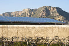 Solars panels in the mountain Stock Photography