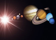 View of the solar system Stock Images