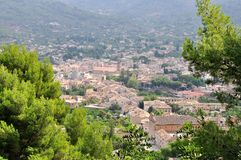 View of Soller panorama in Mallorca island, Spain. There is one route to Majorca, a trip to Soller Soller . In the words of tourist brochure - a trip to Soller Stock Photos