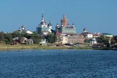 View of Solovetsky Monastery from the White Sea Royalty Free Stock Photography