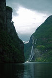 View of some attractions in Geirangerfjord. stock photo
