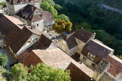 View of some houses of  Rocamadour. It is a medieval village in France Stock Images